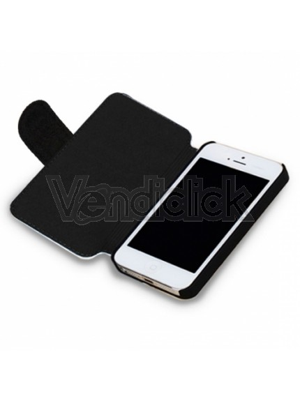 Cover SimilPelle e Tessuto iPhone 5_5S