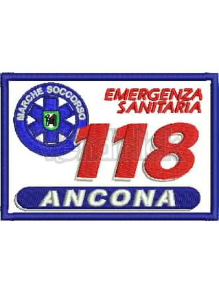 Ricamo Patch Logo 118 Marche Soccorso