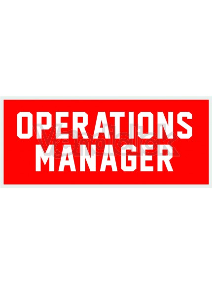 Patch Ricamo Operations Manager RDN