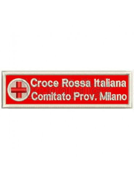 Patch Ricamo Nominativo Croce Rossa Italiana