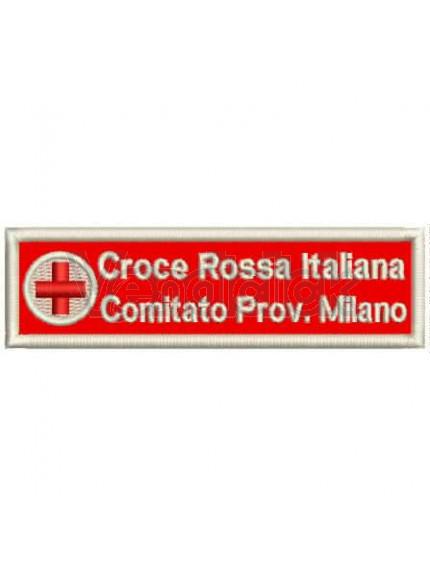 Patch Ricamo Nominativo Croce Rossa Italiana