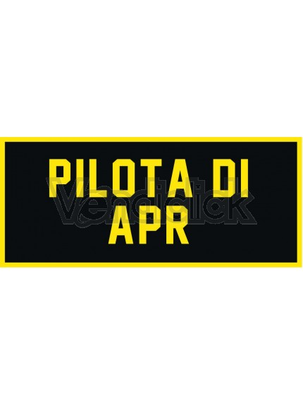 Patch Ricamo Pilota di Apr RDN