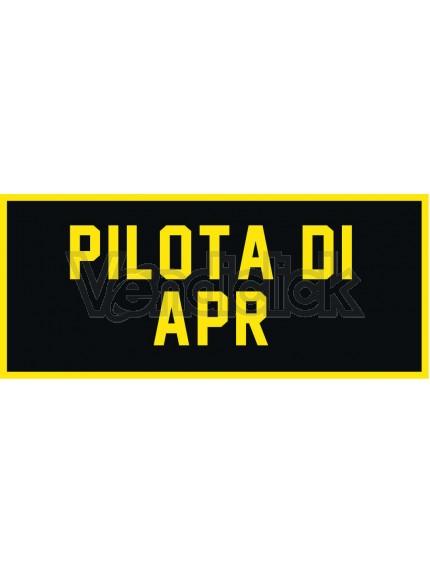 Patch Ricamo Pilota di Apr RDN