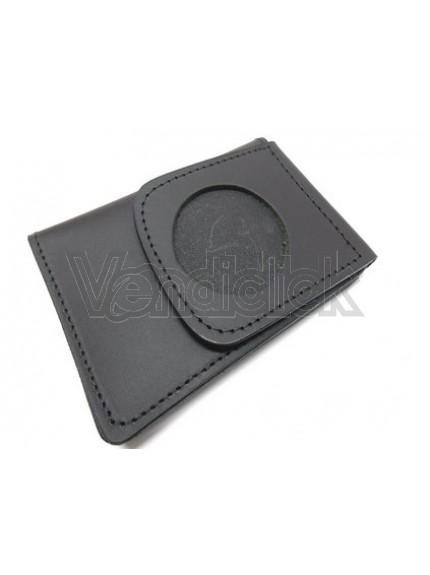 Portafoglio portaplacca tondo vuoto cm 5 Vega