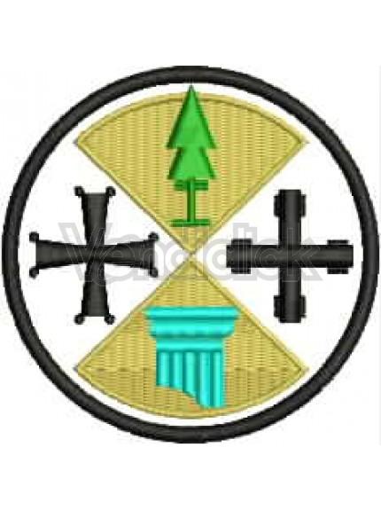 Ricamo Patch Logo Protezione Civile Calabria