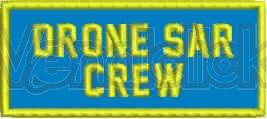 Patch Ricamo Drone Sar Crew