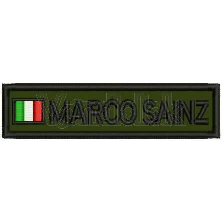Patch Ricamo Nominativo militare it