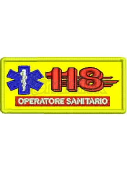 Ricamo Patch Logo 118 Sanitario