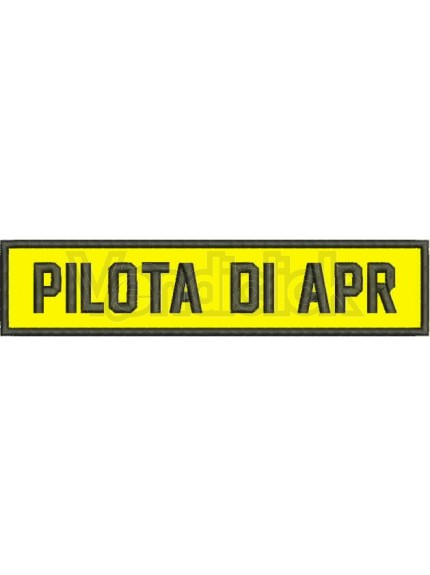 Patch Ricamo pilota di apr spallone